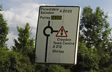 Big roundabout sign